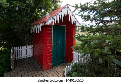Funny Christmas Outhouse in Iceland
