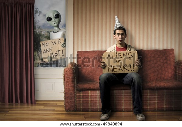 funny concept of Alien invasion