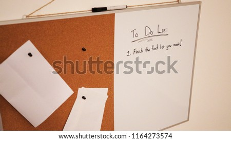 Funny Do List Pin Board White Stock Photo Edit Now 1164273574