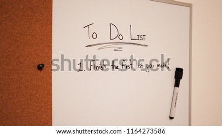 Funny Do List Pin Board White Stock Photo Edit Now 1164273586
