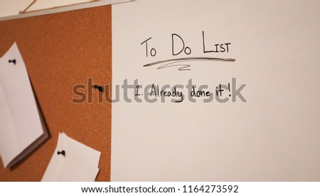 Funny Do List Pin Board White Stock Photo Edit Now 1164273592