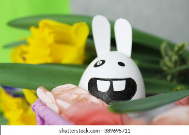 funny Easter bunny egg