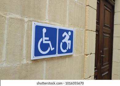 funny fast handicapped person sign