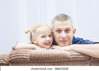 funny father and her daughter