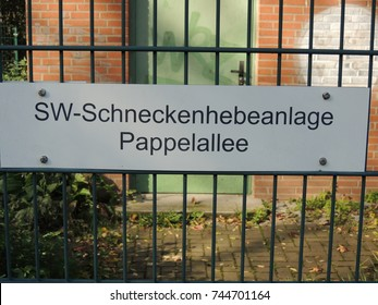 """funny german sign """"snail lifting station"""""""
