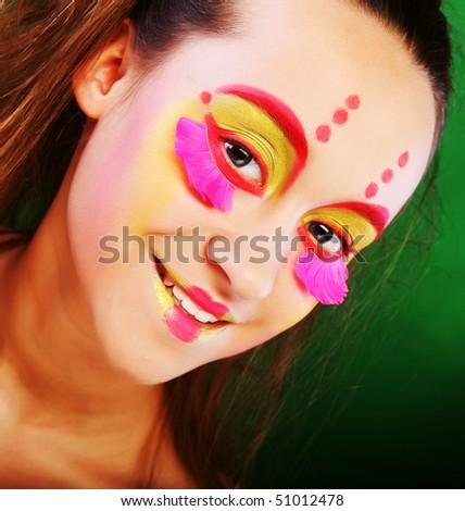 funny girl crazy makeup stock photo edit now 51012478 shutterstock