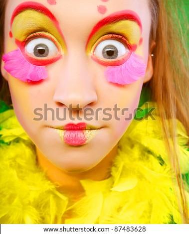 funny girl crazy makeup stock photo edit now 87483628 shutterstock