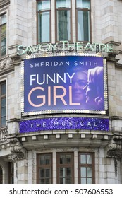 Funny Girl - a sucessful musical at Savoy Theatre in London - LONDON / ENGLAND - SEPTEMBER 23, 2016