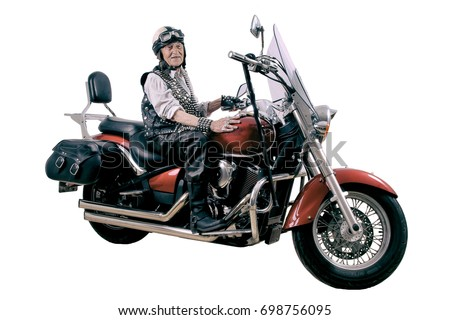 funny old motorcycle pictures  Funny Granny Ridding Bike Chopper Motorcycle Stock Photo (Edit Now ...