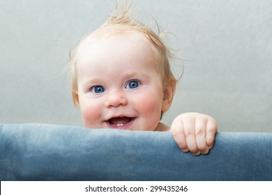 Funny happy baby smile