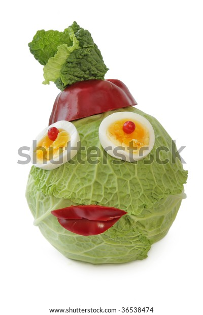 funny head of cabbage
