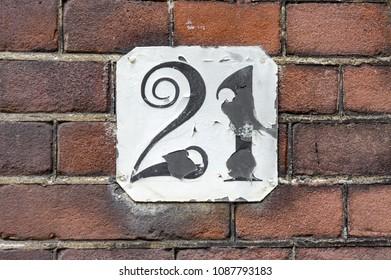 funny house number twenty one (21)