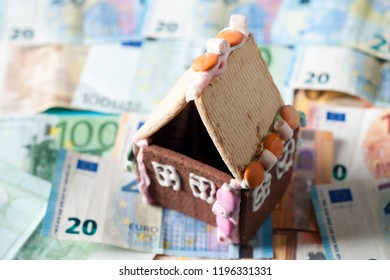 Funny house on euro money