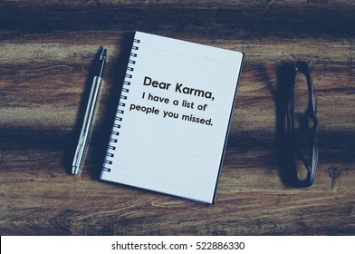 Karma Quotes Stock Photos Images Photography Shutterstock