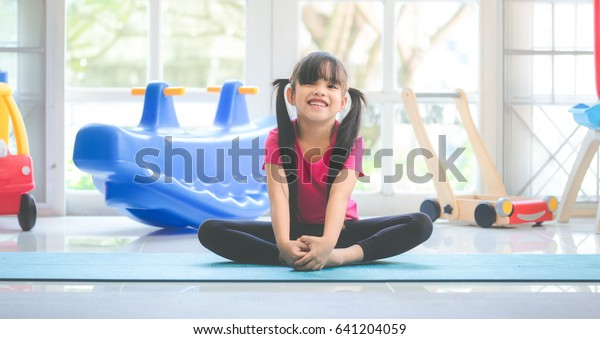 Funny Kid Having Fun After Exercising Stock Photo Edit Now 641204059
