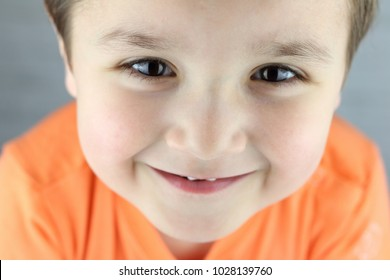 funny little child close up