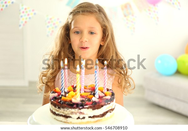Cool Funny Little Girl Birthday Cake Home Stock Photo Edit Now 546708910 Funny Birthday Cards Online Elaedamsfinfo