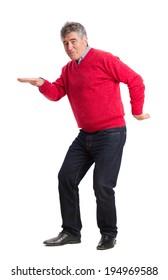 Funny man dancing