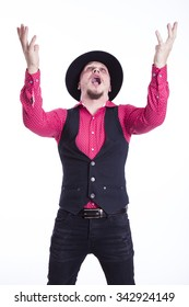 funny man with hat