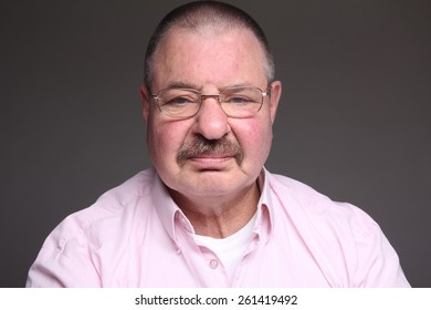 Funny man with a mustache