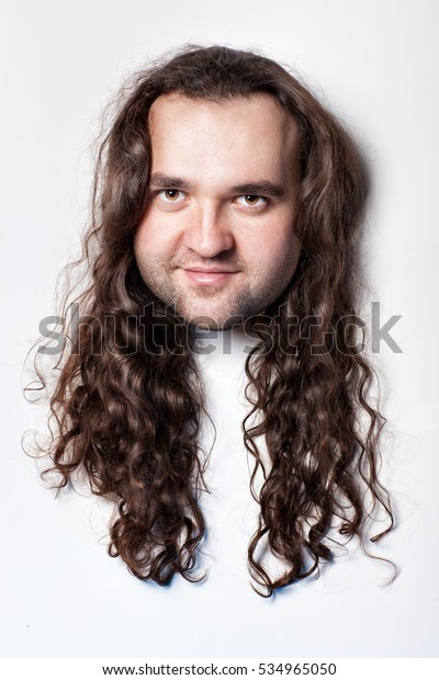 Fabulous Funny Mens Head Hair Long Curly Stock Photo Edit Now 534965050 Schematic Wiring Diagrams Phreekkolirunnerswayorg