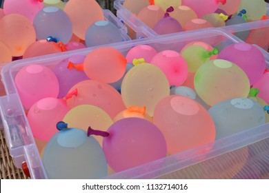 Funny multi - coloured watter baloons