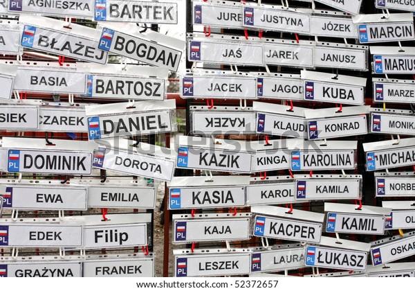 Funny Name Plates Rain Stock Photo (Edit Now) 52372657