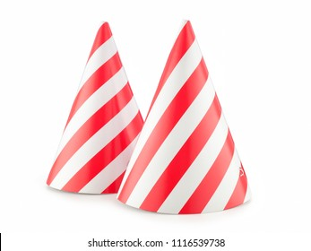 funny party hat isolated on white background.