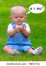 Funny picture of little mathematician.
