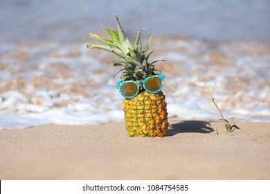 Funny Pineapple With Personality in the Ocean in Maui