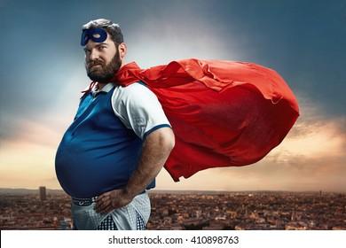 Funny Portrait Of Hero