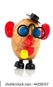 funny potato head with face from toys
