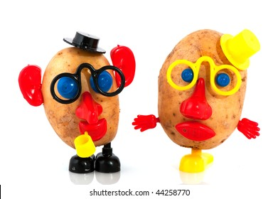 funny potato heads with face from toys