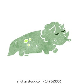 funny retro cartoon dinosaur