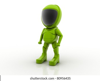 funny robot isolated on white background