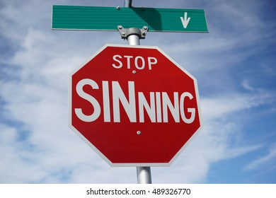 Funny Sign - Stop Sinning