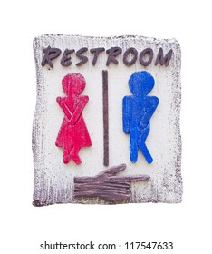 funny toilet symbol