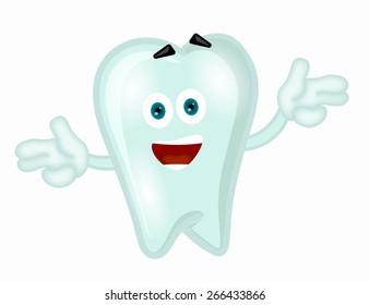 Funny tooth cartoon comic illustration children