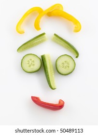 funny vegetables face