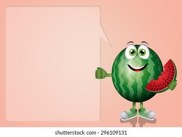 Funny watermelon