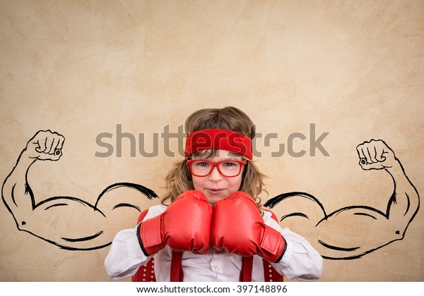 Funny Winner Child Success Leader Business Stock Photo Edit Now 397148896