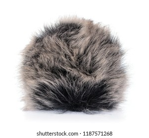 Fur ball isolated on white background