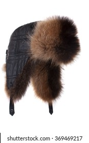 Fur cap for winter weather.