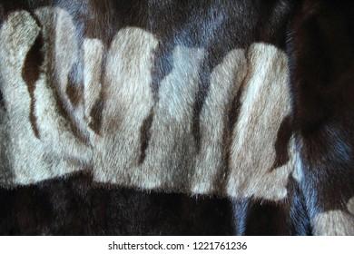 Fur mink coat. Close-up. Background. Texture.