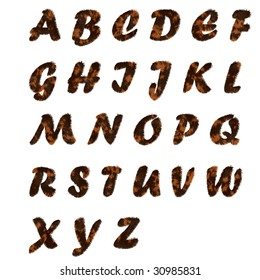 fur text Alphabet