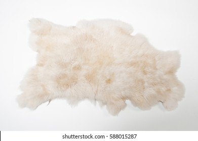 fur wool carpet on a white background