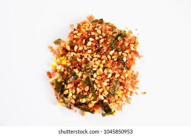 Furikake: Dry condiment of japanese cuisine. Isolated.
