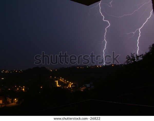 furious late spring lightning storm no. 4