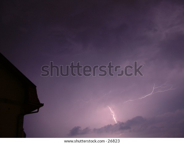 furious late spring lightning storm no. 6