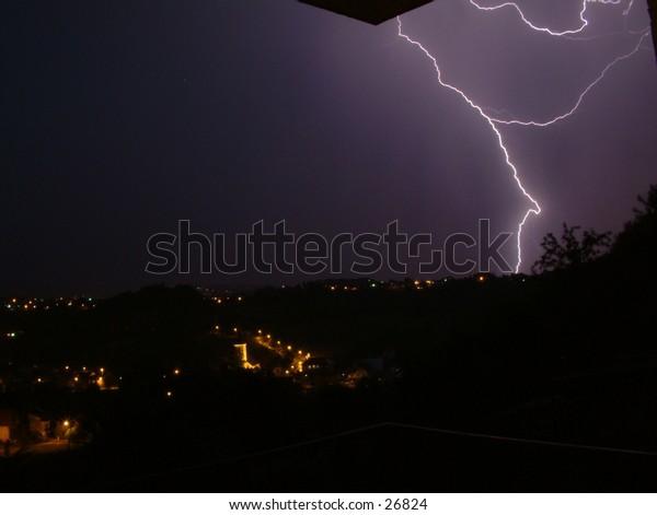 furious late spring lightning storm no. 5